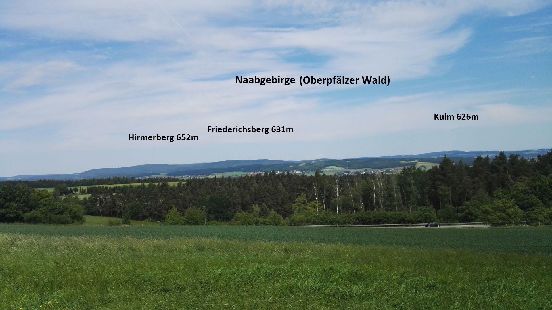 """Aussicht auf das """"Naabgebirge"""""""