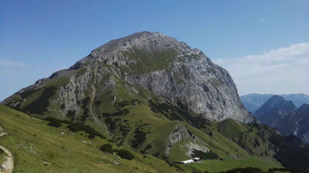 Karwendelmarsch 2017 - Aussicht vom Binssattel