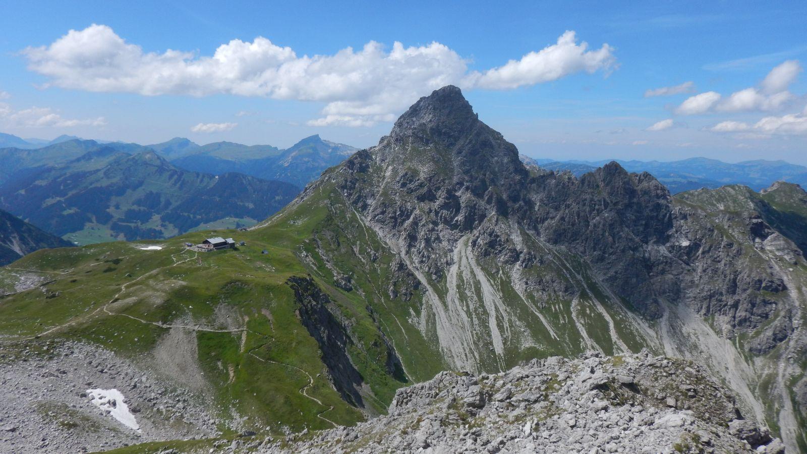 Oberstdorfer Hammerspitze und Fiderepasshütte