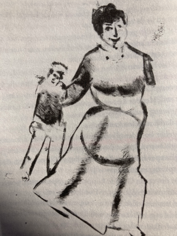 Chagalls moeder sleurt haar zoon mee naar Juri Pen, uit ma vie