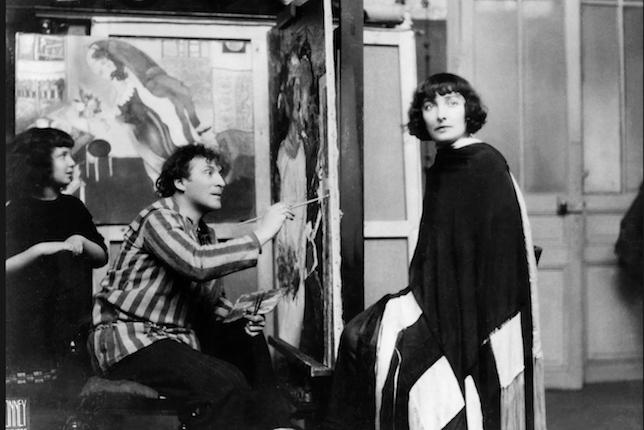 Chagall schildert Bella in Parijs, 1924