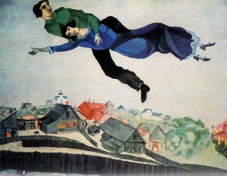 Over the town, 1914