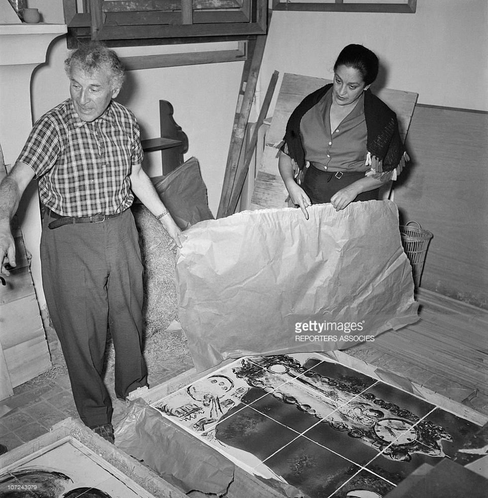 Chagall en Valentina Brodsky, 1955