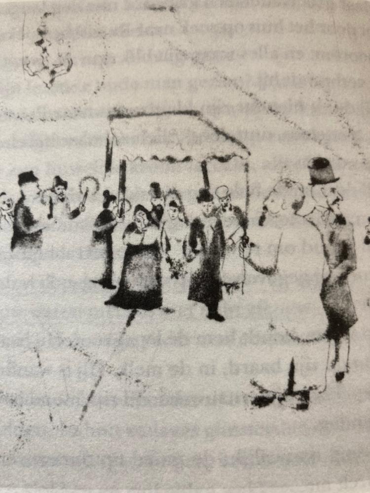 Chagalls bruiloft, 1914
