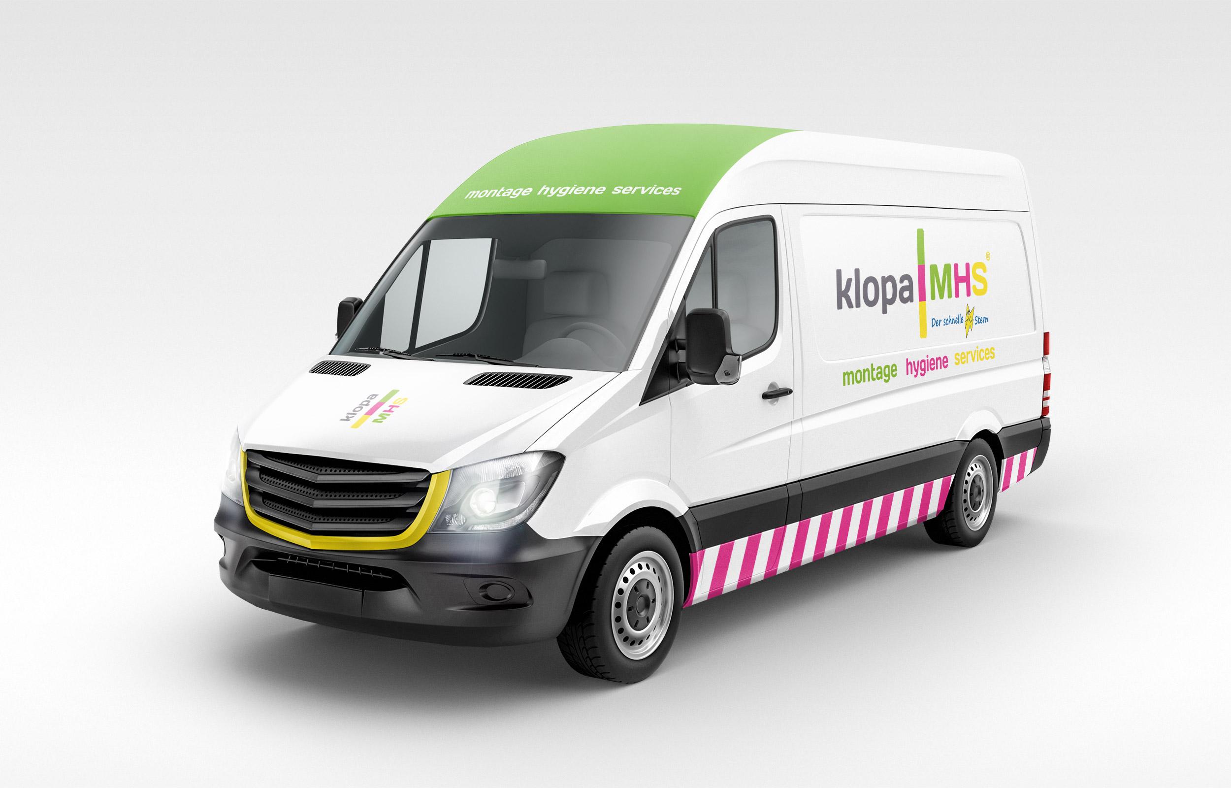 Klopa MHS - Fahrzeugbeschriftung