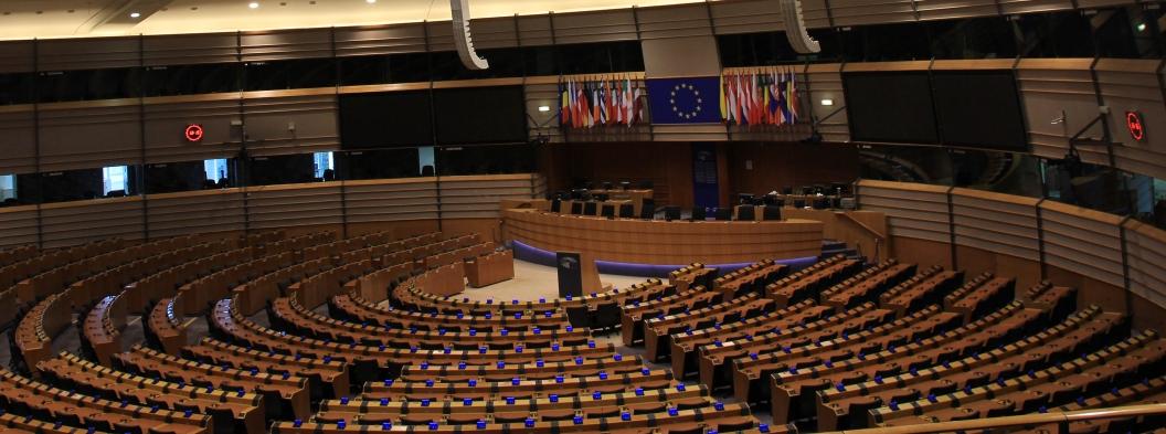 Der Plenarsaal im Europäischen Parlament