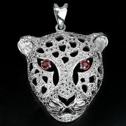 пантера - подвеска из серебра