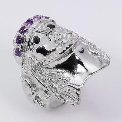 иисус кольцо из серебра