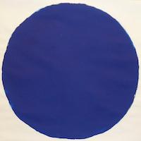 Gemalter, blauer Kreis