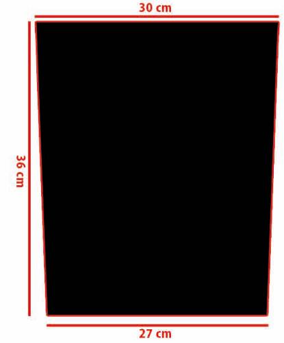 Rückenaufnäher / Backpatch Größe / Size