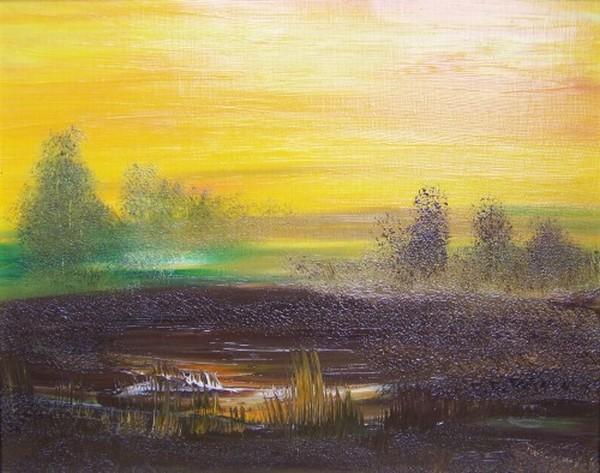 Sonnenaufgang über dem Moor 1996