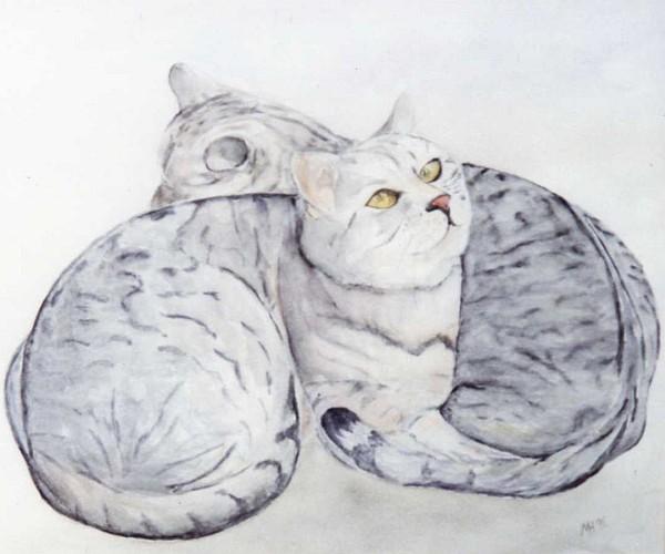 Katzenpaar 1995