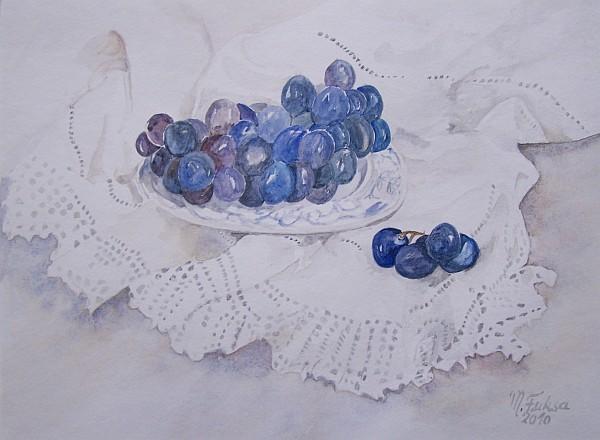 Blaue Trauben Weisse Spitzen 2010