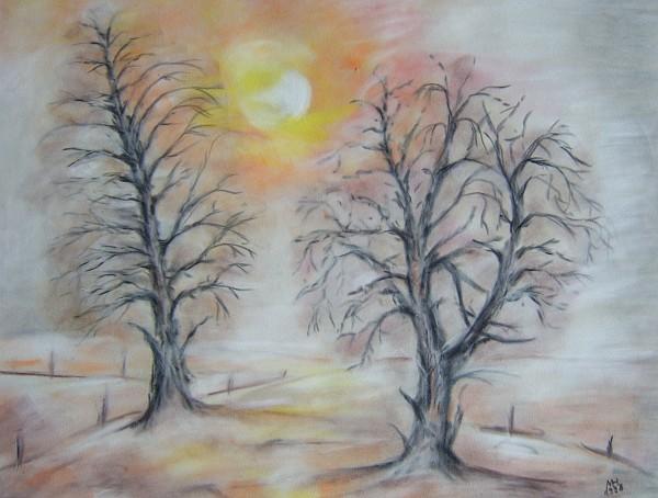 Herbstlicher Sonnenuntergang 1998