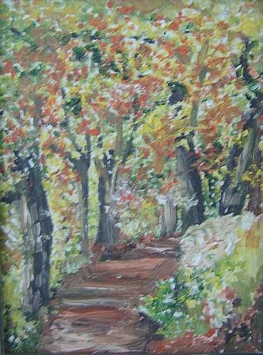 Waldweg im Herbstgewand 1997