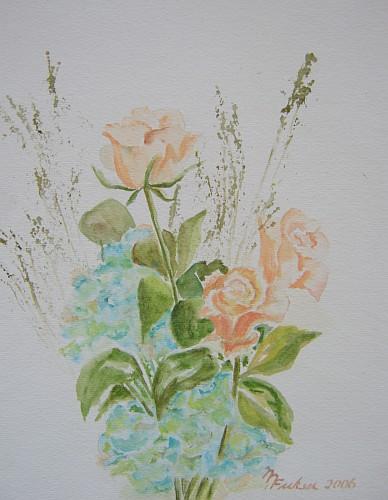 Rosen mit Hortensien 2006