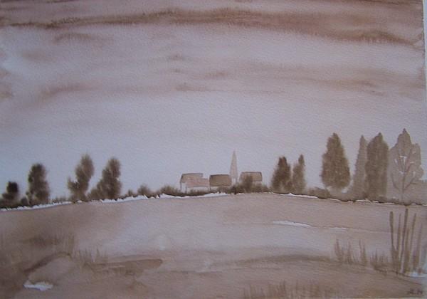 Landschaft im Morgengrauen 1994