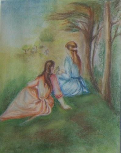 Renoir - Mädchen auf der Wiese 1997