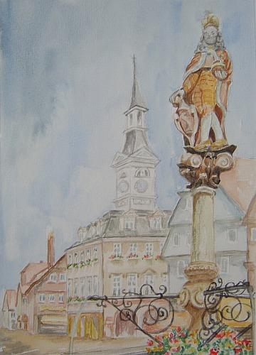 Marktplatzbrunnen in Aalen 1997
