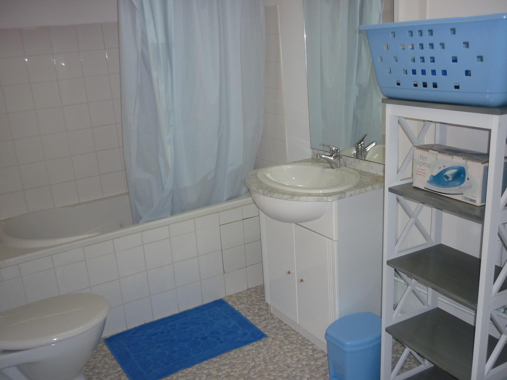 Salle de bains type avec baignoire
