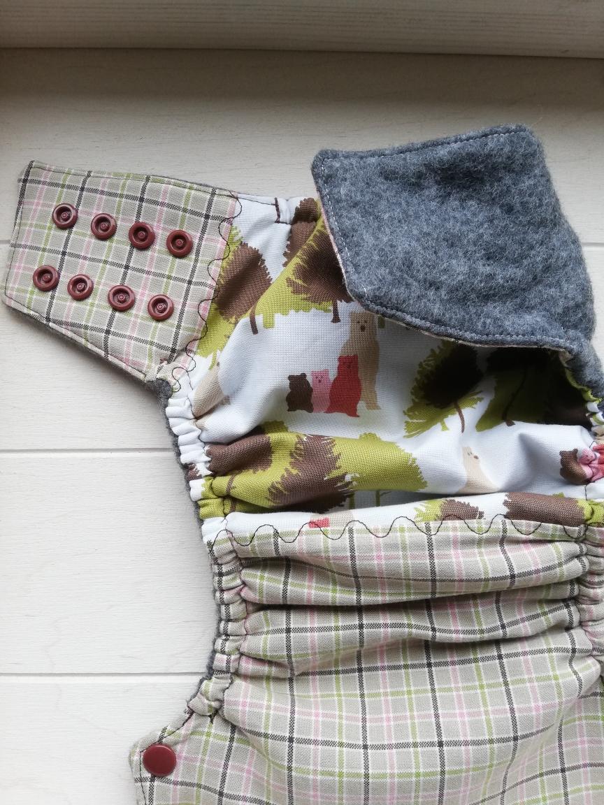 Wollüberhose mit Fleece aus kbT, Midi-Münster