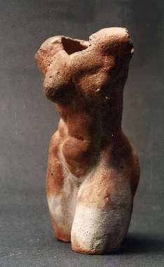 Torso, salzglasiertes Steinzeug