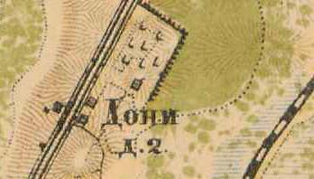 План деревни Дони - 1885 г.