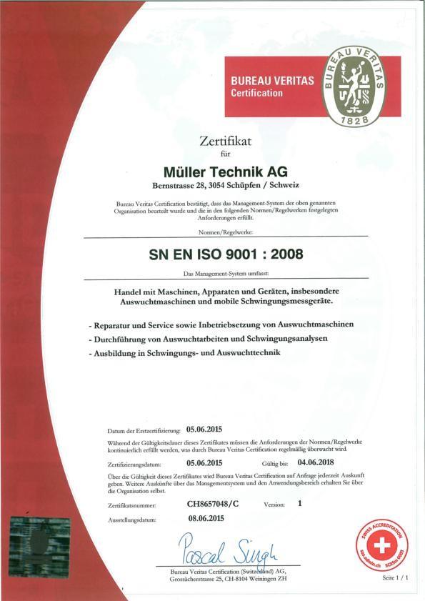 NEU  Zertifziert nach ISO 9001
