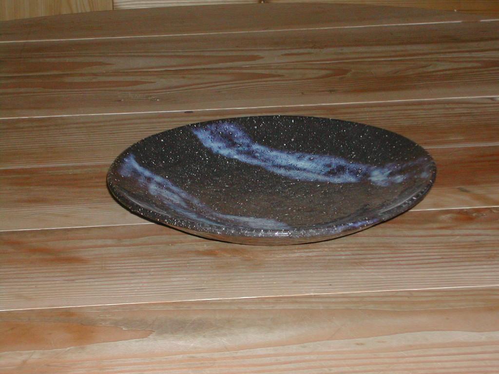 白萩流し掛け 丸大皿