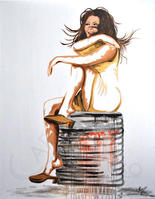Ich sitze gut (2012), 100 x 80 cm