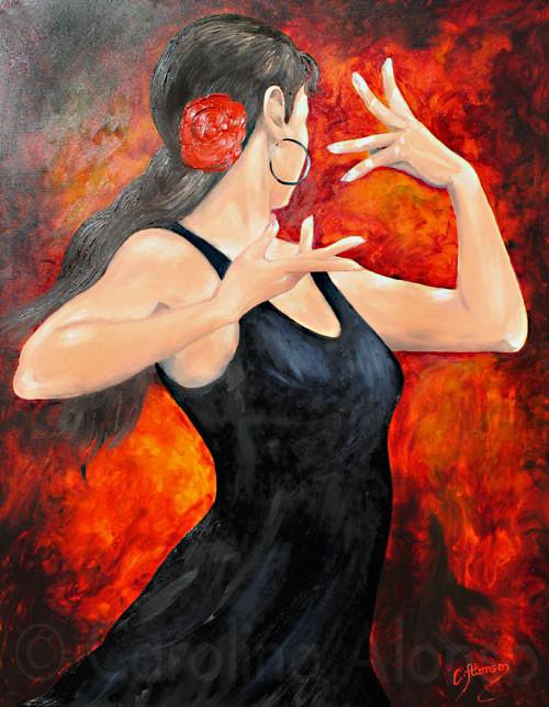 Emoción de Carmen (2010), 100 x 80 cm, Öl & Acryl auf Leinwand