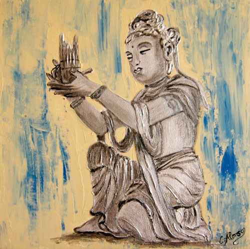 Buddha Silber (2008) 30 x 30 cm