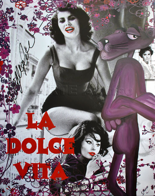 La Dolce Vita II (2011), 100 x 80 cm,  Print & Acryl auf Leinwand