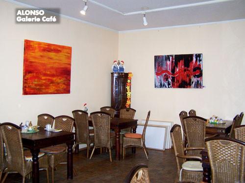 """Galerie Café,51465 BERGISCH GLADBACH,""""Die rote """"Welle"""",April   2010"""