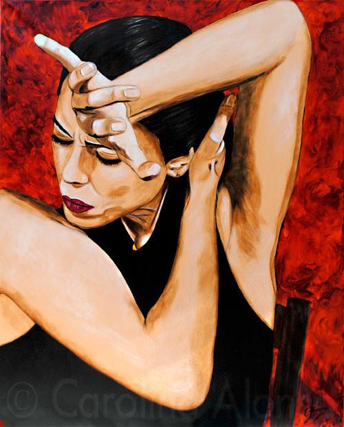 El canto flamenco (2010), 100 x 80 cm