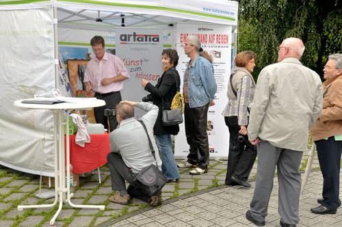 Leinwand auf Reisen,Rösrath,Kulturtage,Aug.2010