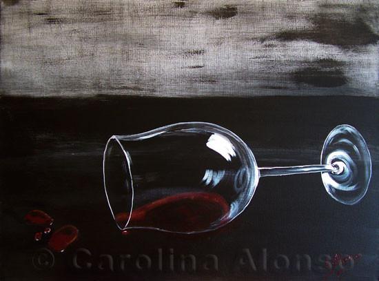 Getrunken (2009), 60 x 80 cm