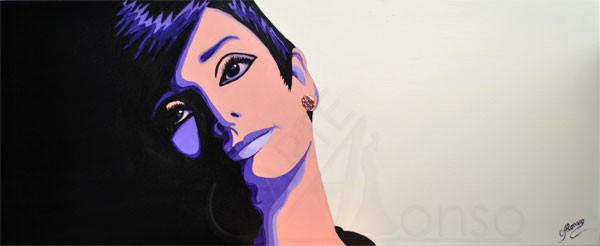Ob er kommt ? (2012), 40 x 100 cm