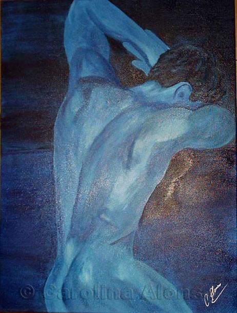 Blue Man (2006) 80 x 60 cm