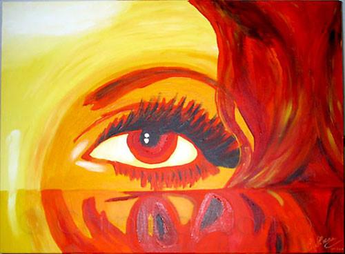 Das Auge  (2007), 60 x 80 cm,  Acryl auf Leinwand