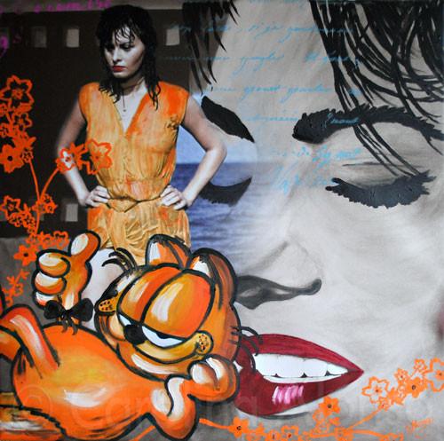 Fantastico, Print & Öl, (2011) 80 x 80 cm