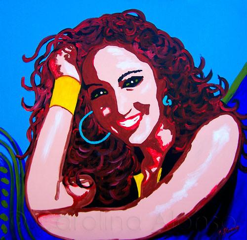 Carmen II (2010), 100 x 100 cm