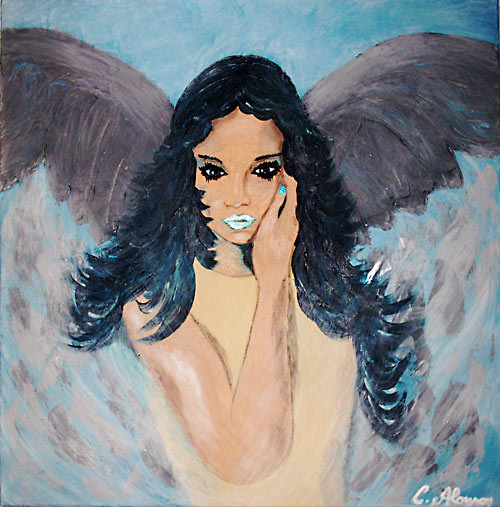 Engel des Meeres (2007) 60 x 60 cm