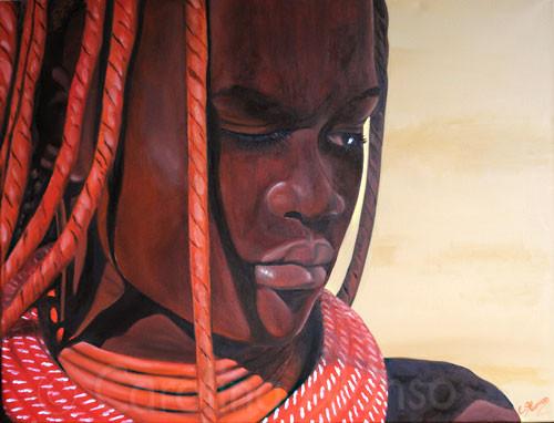 Himbafrau (2011), 60 x 80 cm, Öl auf Leinwand