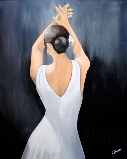 Flamenco blanco (2011), 100 x 70 cm, Öl & Acryl auf Leinwand