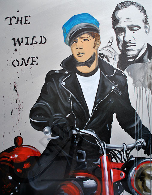 THE WILD ONE (2012), 100 x 80 cm, Acryl auf Leinwand