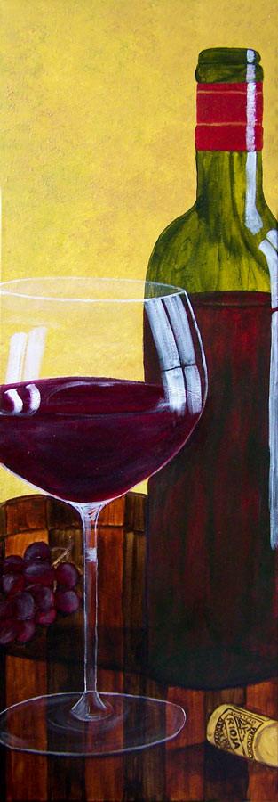 Vino rojo (2009) 90 x 30 cm