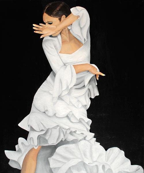 Eleganter Schwung (2011), 120 x 100 cm, Öl & Acryl auf Leinwand