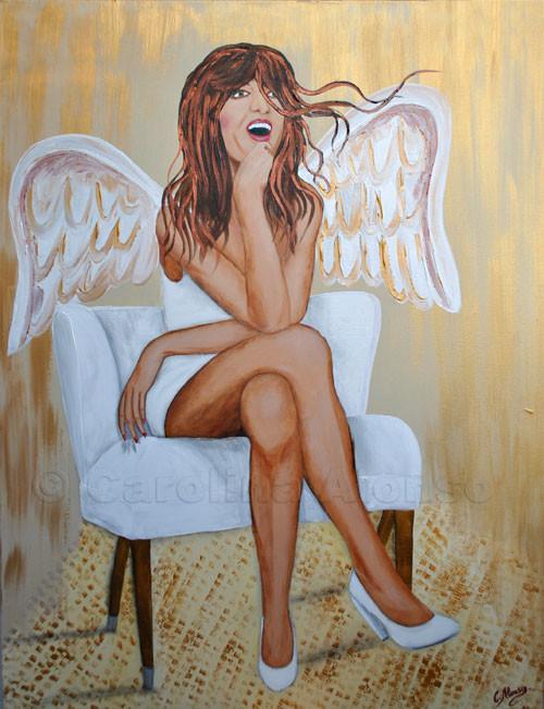 Auch Engel können Sexy sein (2011), 100 x 80 cm