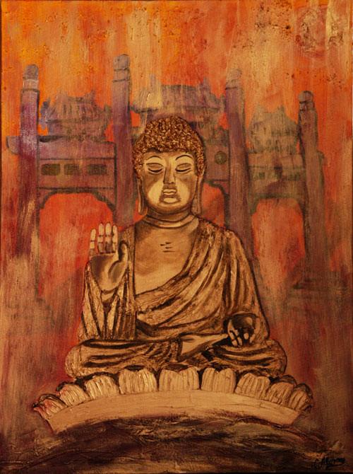 Buddha Po-Lin Lautau (2008) 80 x 60 cm